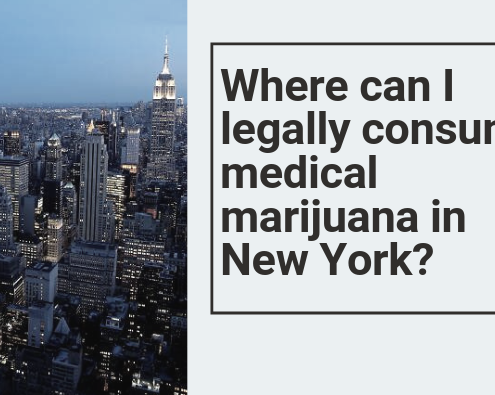 Where can I legally consume medical marijuana in New York?