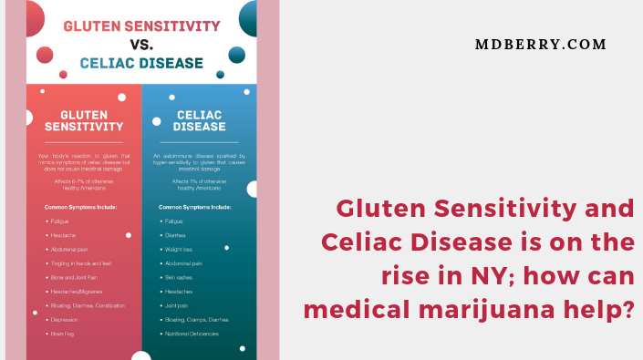 Gluten Sensitivity and Celiac Disease is on the rise in NY; how can medical marijuana help?