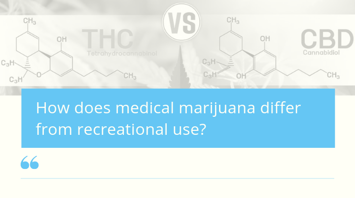 How does medical marijuana differ from recreational use?
