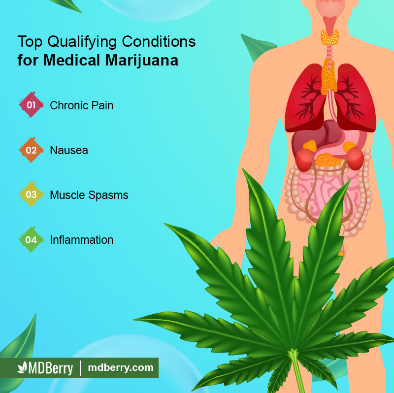 Top Qualifying Conditions for Medical Marijuana